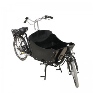 two wheel cargo bike is new generation city cargo bike.2 wheel cargo bike.Modern, stylish and convenient way to transport children riding around town or city is awesome!