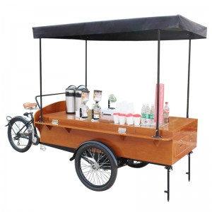 The mobile coffee bike is known for their durability and quality. It is user-friendly design,make you start business easily.people love the retro coffee bike,it is all over the world.
