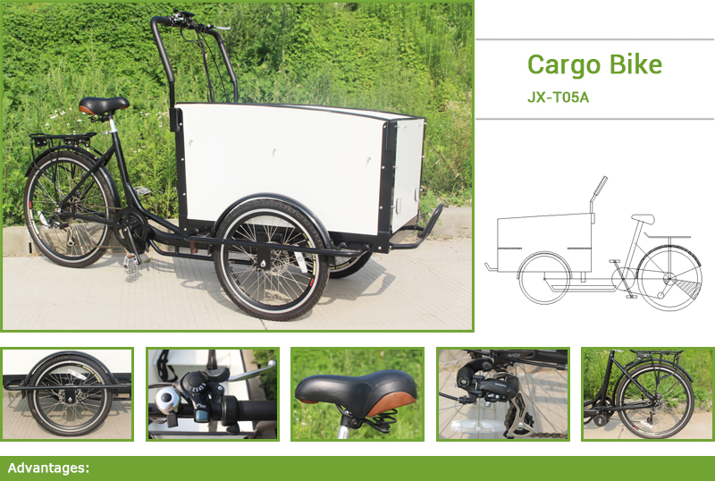 This bicycle cargo is extremely popular in Europe urban,bicycle cargo is a good replacement of scooter or a small car. For a Family, it,s can be used to take kids to school, up to four kids can sit in the front box, enjoying the ride and communicate with you!For a businessman, you can reach more customers in less time with less effort within your area of business .Also can be used to pick up your groceries, family trips to nature.Deliveries, pickups, take-away, coffee, ice-cream vendors or other.
