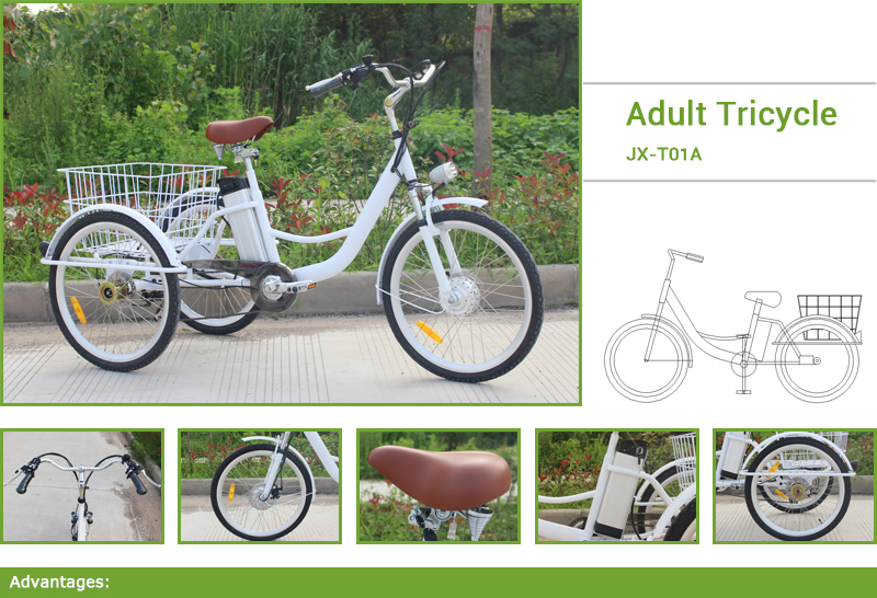 This is a 6 speed adult tricycle, configuration is very high, Frame: 45 steel and Aluminum Wheel Size: 24 Speed: 7 Speeds brake/front and rear: Disc brake (yinglong brand)
