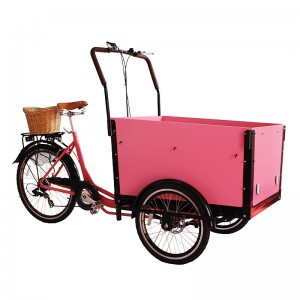 This classic cargo bike is extremely popular in Europe urban,cargo bike is a good replacement of scooter or a small car. Also can be used to pick up your groceries, family trips to nature.Deliveries, pickups, take-away, coffee, ice-cream vendors or other.