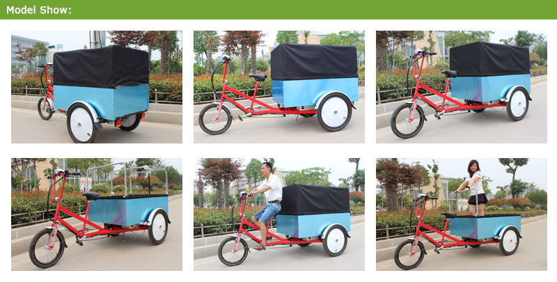 This cargo trike bakfiets is extremely popular in Europe urban,People love cargo trike bakfiets!They enjoy the fresh air and sunshine and your business can enjoy this all-news and truly effective method of advertising bike.