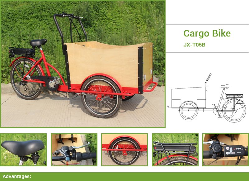 This cargo bike is extremely popular in Europe urban,cargo bike is a good replacement of scooter or a small car. 2. For a Family, it,s can be used to take kids to school, up to four kids can sit in the front box, enjoying the ride and communicate with you!For a businessman, you can reach more customers in less time with less effort within your area of business . 3.Also can be used to pick up your groceries, family trips to nature.Deliveries, pickups, take-away, coffee, ice-cream vendors or other.
