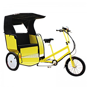 This pedicab carries two adult passengers in a comfortable and roomy carriage and features a lift-up seat for convenient luggage stowage. MAXI Taxi can be easily adapted to carry advertising billboards or signs on all areas of the aluminium carriage. Trisled's front-end drive steering geometry makes this rickshaw one of the most manoeuvrable on the market, allowing riders to navigate tight spaces and city streets. Trisled rickshaws are also available for hire.