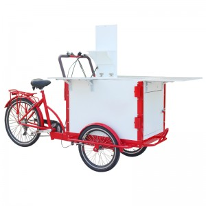 This is a versatile fashion coffee bike, with built-in sink, drawers, Showcase. It is a very useful coffee bike, the coffee cart satisfy your desire to do business.