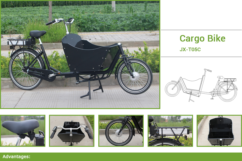 cargo bicycle for sale.cargo bicycle Can carry up to four children in the box, the extra bench is required,Children are safely secured in the box with belts.