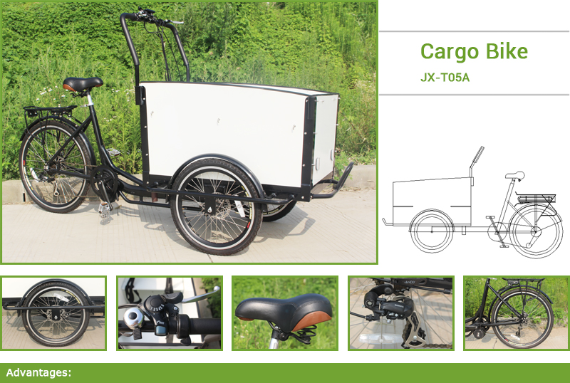 Jxcycle cargo bike contains all of your favorite elements and pack into the most innovative, safe and functional cargo bike.You can ride the cargo bike to work, to travel, to visit a friend of you...