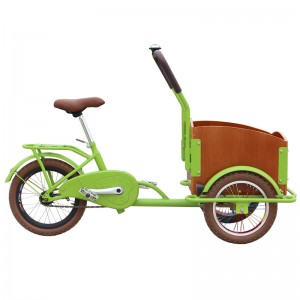 child cargo bike for sale, it is a candy color kids cargo bike, suitable for children aged 4 to 12, security is very good. kids can ride the bike to look for a friend, to play games.