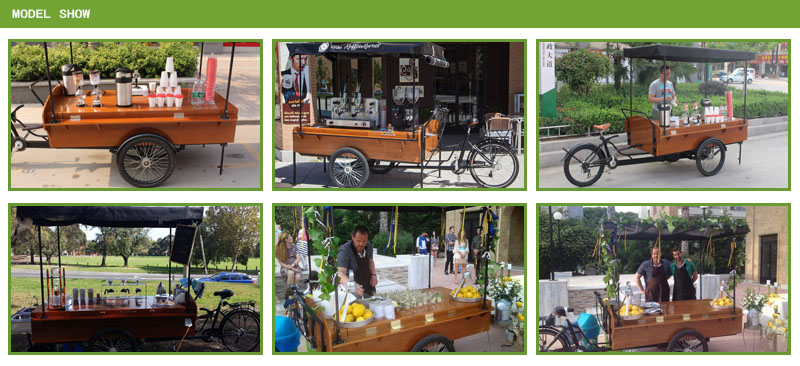 bicycle coffee cart